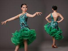 Nuevo profesional verde trajes de baile para niños vestido latino fringe tigre elástica rumba samba dancewear trajes de la salsa en Latino de Novedad y de uso especial en AliExpress.com   Alibaba Group