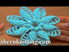 ▶ Crochet Folded Petal Flower Tutorial 57 Part 1 of 2 Fiori all'Uncinetto con bottoni usati - YouTube