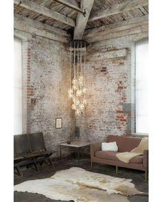 Brick Home #livingroom #brick #industrial #interior #interiors #interiordesign #design #architecture