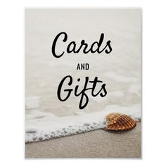 Beach Waves Wedding Cards & Gifts Sign