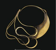 Necklace ~ Art Smith.  'Postive/negative', Brass, c. 1948.  On the 14th June, 2012, this necklace had an estimate of 15,000 US$