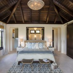 Beautiful coastal bedroom.