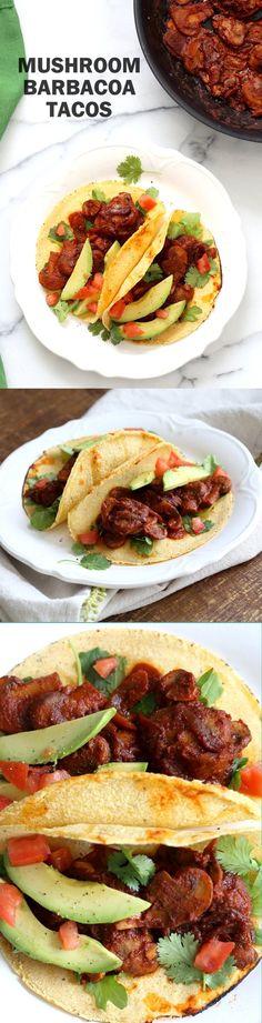 Vegan Barbacoa Mushroom Tacos