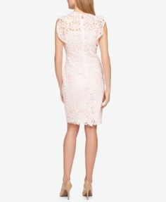 TOMMY HILFIGER Tommy Hilfiger Lace Flutter-Sleeve Dress, Only At Macy'S. #tommyhilfiger #cloth # dresses