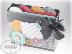 My little craft blog: How To Make A Note Box