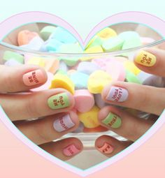 By Natasha BurtonRegardless of how you feel about Valentine's Day, you'll fall for these heart-filled nail designs.