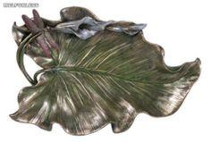 Art Nouveau Calla Lily w Dragonfly Bronze Dish Plate | eBay