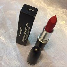 RUBY WOO - Mac Cosmetics Lipstick Authentic Mac Lipstick Shade - RUBY WOO B64 (Retro Matte) MAC Cosmetics Makeup Lipstick