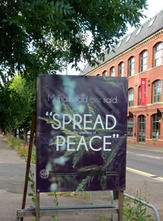 "Muhammad ﷺ said: ""Spread the greeting of Peace"" #spl16fm"