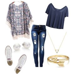 teen fashion by foreverfearliss on Polyvore featuring polyvore fashion style Converse Mikimoto Wanderlust + Co Bling Jewelry