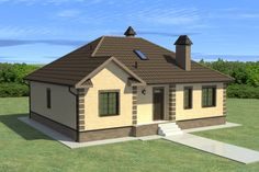 Проект одноэтажного дома Modern Bungalow House, 3 Bedroom House, House Plans, Shed, Farmhouse, Outdoor Structures, Houses, Ceilings, Casa De Campo