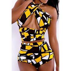 High-Waisted Women's Bikini Set