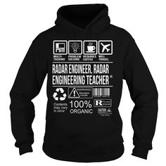 Awesome Tee For Radar Engineer, Radar Engineering Teacher T-Shirts, Hoodies. ADD TO CART ==► https://www.sunfrog.com/LifeStyle/Awesome-Tee-For-Radar-Engineer-Radar-Engineering-Teacher-Black-Hoodie.html?id=41382