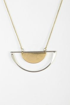 Half Moon Geo Necklace #urbanoutfitters