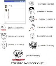 Image title: Type Into Facebook Chat! - Posted in: Funny, Troll Face Comics Pictures - Tagged: Facebook, Funny Facts photos