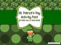 St. Patrick's Day Activity Pack {5 Math and LA Activities}