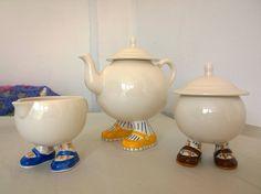 Carlton Ware Walking Ware - Teapot, Sugar and Creamer