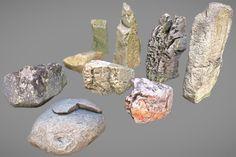 9 Photorealistic Stones 3D Model | Download Royalty Free Terrain 3D Models - 3D Squirrel