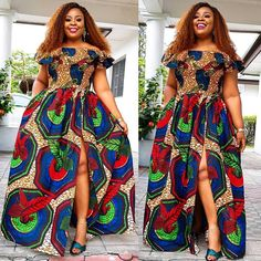 2019 Latest and Cute Ankara Gown Styles - Naija's Daily Latest Ankara Gown, Ankara Short Gown Styles, Trendy Ankara Styles, Ankara Gowns, Short Gowns, Ankara Dress, African Prom Dresses, African Dresses For Women, African Women