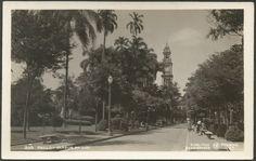 São Paulo - Jardim da Luz - Cartão Postal antigo original, nº 27, editado por Theodor Preising, não