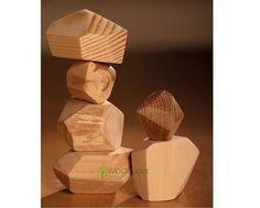 Wooden stones Balancer toy Tumi-Ishi Wooden blocks by WOODpoint