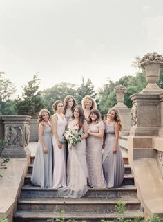 The gorgeous ladies: http://www.stylemepretty.com/2015/08/26/elegant-whimsical-crane-estate-wedding/ | Photography: O'Malley Photographers - http://omalleyphotographers.com/
