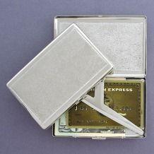 Sand Pattern Cigarette Case and Metal Wallet