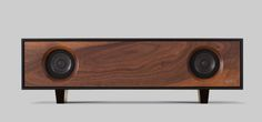 Symbol Audio - Tabletop HiFi - Black Cabinet, Walnut Speaker Front