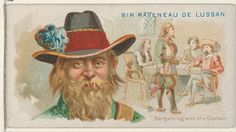 """Sir Raveneau De Lussan, Bargaining With the Captain, from the """"Pirates of the Spanish Main"""" series (N19), for Allen & Ginter Brand Cigarettes, c1888."""
