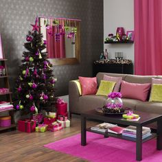 Bold modern interior decorating Christmas