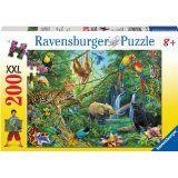 Ravensburger Animals in The Jungle Jigsaw Puzzle Piece) E Puzzle, Animal Puzzle, Giraffe, Elephant, Curious Kids, Ravensburger Puzzle, Cute Panda, Illustration, Jigsaw Puzzles