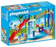 Playmobil 6670 Summer Fun Water Park Play Area: Playmobil - Water park with slide. Includes slide see-saw… Play Mobile, All Toys, Kids Toys, Fun Water Parks, Playmobil Sets, Toys Shop, Legos, Summer Fun, Toy Chest