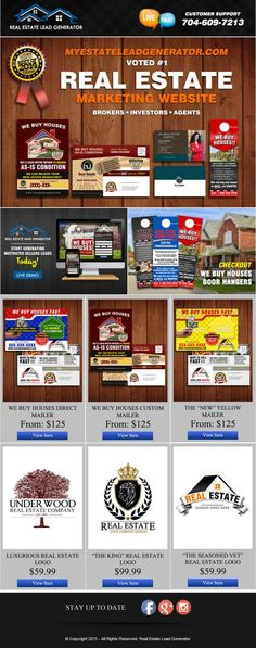 X Real Estate Marketing Bundle  Real Estate Listing Flyers
