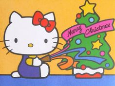 Hello Kitty Vintage Christmas Card -- This is not mine, but I like the picture. Hello Kitty Christmas, Christmas Cats, Xmas, Hello Kitty Pictures, Holiday Wallpaper, Christmas Cartoons, Christmas Graphics, Miffy, Hello Kitty Wallpaper