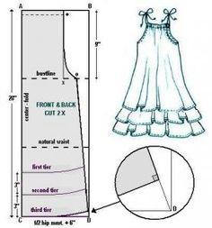 Dress pattern free kids sewing projects Ideas for 2019 Sewing Patterns Free, Free Sewing, Sewing Tutorials, Sewing Hacks, Clothing Patterns, Sewing Crafts, Sewing Projects, Doll Patterns, Sewing Tips