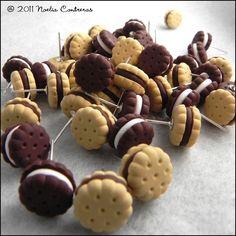 FIMO - Kekse als Perlen oder Anhänger