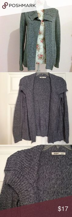 Old Navy Cardigan Beautiful salt and pepper cardigan by old navy! True color is NOT the cover photo but the others. 24 inch length and 25 arm. Beautiful and casual and oh so warm! Old Navy Sweaters Cardigans