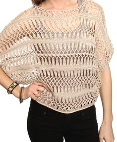 Knitted dolman sweater