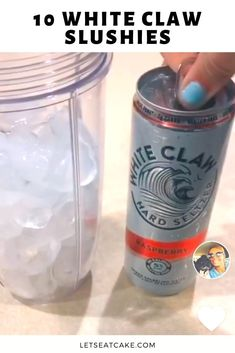 White Claw Slushies Are Now a Thing Thanks to TikTok Slushy Alcohol Drinks, Alcohol Drink Recipes, Vodka Cocktails, Cocktail Drinks, Alcoholic Drinks, Fireball Recipes, Fancy Drinks, Bar Drinks, Beverages