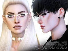 Glasses in 30 versions, all genders. Found in TSR Category 'Sims 4 Female Glasses'