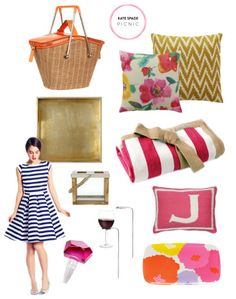 Kate Spade inspired picnic: http://www.stylemepretty.com/living/2013/04/24/a-kate-spade-inspired-picnic-round-up/