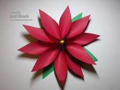 Paper Poinsettia (with tutorial) great kids craft -Crafting with Class: Sharing My Favorites