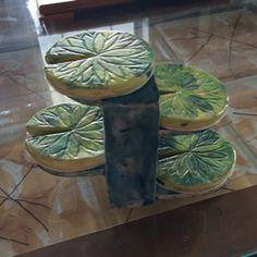 Intro to Ceramics, Seaman High School. Coaster set with container.