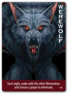 Order individual replacement cards compatible with Ultimate Werewolf and Ultimate Werewolf Deluxe Edition. Werewolf Card Game, Werewolf Games, Werewolf Art, Bord Games, Doraemon Wallpapers, Name Card Design, West Art, Cryptozoology, Bad Wolf