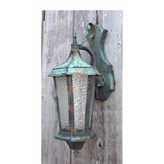 Antique Arts and Crafts style hammered copper exterior lantern sconce with beautiful patina #https://www.pinterest.com/munlimited/