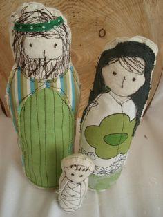 Fabric Nativity Set. $65.00, via Etsy.