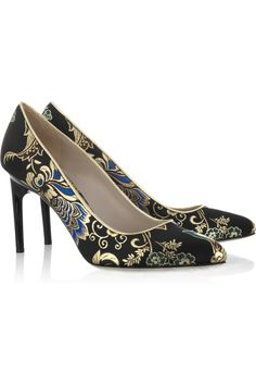 JASON WU  Lily leather-trimmed brocade pumps    (I don't really wear shoes like this, but I love the pattern!)