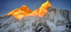 Mt. Everest Picture in sunrise morning from Kalapathar 5550mtrs.