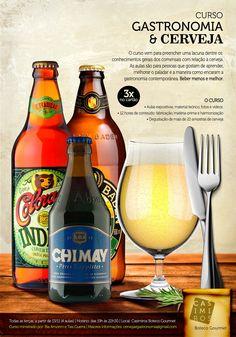 Gastronomia e Cerveja: Mais informações sobre o curso por e-mail cervejaegastronomia@gmail.com e na Fan Page www.facebook.com/gastronomiaecerveja