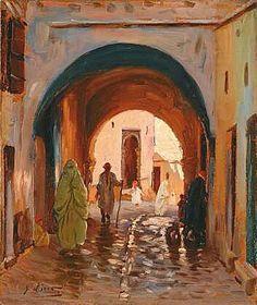 Gustave Lino (1893-1961) Titre « Rue du vieil Alger (Casbah) »